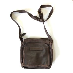 Fossil Leather Crossbody Bag Purse Zip Pockets